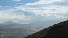 Time lapse of the landscape near the Colca Canyon, Peru Stock Footage
