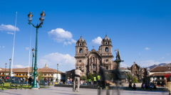 Time lapse of Plaza de Armas in Cusco, Peru Stock Footage