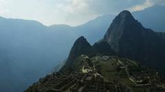 Panning time lapse of Machu Picchu Stock Footage