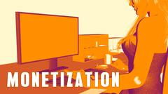Monetization Concept Course Stock Illustration