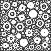 Gear cog wheels background - stock illustration
