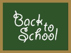 Back to School green board Stock Illustration
