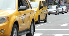 New York City Times Square Car Taxi Traffic 4K Stock Video - stock footage