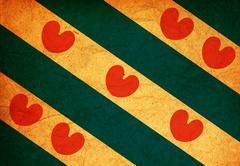 Friesland region flag Stock Illustration