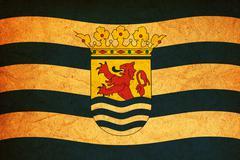 Zeeland region flag Stock Illustration