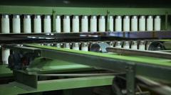 Manufacture of veneer sheets Stock Footage