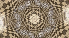 Kaleidoscope natural light effect, abstract texture - stock footage