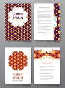Cover brochure design. Arabic traditional decorative elements. Stock Illustration