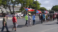 Protest against the US Federal Government  Stock Footage