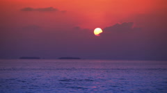 Bright sunset over the sea - stock footage