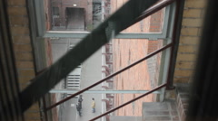 Inside view of an elevator Stock Footage