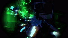Space chaos - stock footage