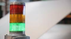 Signal lights CNC machine Stock Footage
