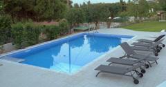 Cinemagraph - Swimming Pool on the Villa Backyard Stock Footage