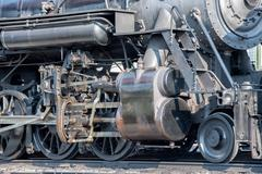 Old steam engine iron train detail close up view Kuvituskuvat