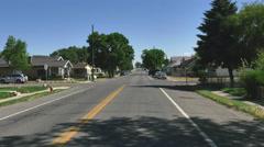 POV-Driving main street small rural Utah town-2 Stock Footage