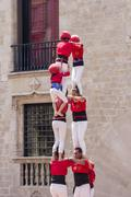 Castles Human Tower - stock photo