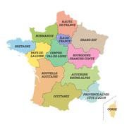 France metropolitan map with new regions Stock Illustration