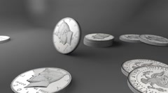 50 cent coin USA Stock Footage