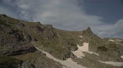 Rocky Mountain Peaks Wide Pan 4K Stock Footage