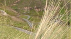 Twisting road in Andes of Peru Stock Footage