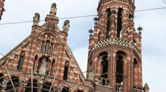 Shopping Centre Magna Plaza in Amsterdam Stock Footage