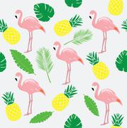 Vector Flamingo Bird Stock Illustration