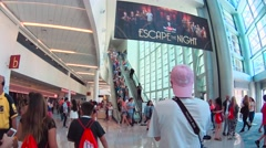 Fans attending Vidcon 2016 Stock Footage