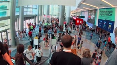 Lobby at Vidcon Stock Footage