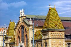 Central Market Hall Budapest Hungary - stock photo