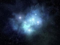 Fanciful nebula - stock photo