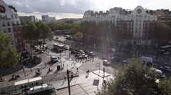 Traffic on streets in Paris Stock Footage