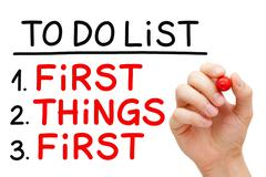 First Things First To Do List Stock Photos