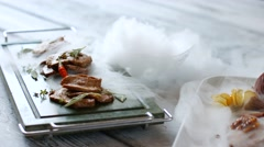 Cooked meat with spices. Stock Footage