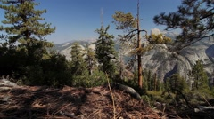 Half Dome Scenic Point, Yosemite Nationalpark, United States Stock Footage