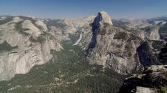 Half Dome Scenic Point, Yosemite Nationalpark, United States Stock Footage