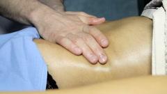Abdominal lymph drainage massage Stock Footage