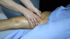 Massage to get rid of cellulite Stock Footage