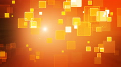 Warm orange color motion background with animated squares. Light ray effect. Stock Footage