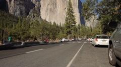 Cathedral Rocks, Yosemite Nationalpark, United States Stock Footage