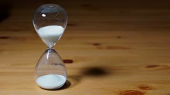 Sand clock with white sand Stock Footage