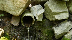 Source in the forest of pipes. Stock Footage