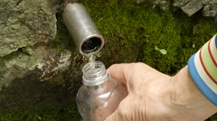 Type in plastic bottles of water source. Stock Footage