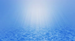 Underwater wave background with sun rays beam, UHD 4k 3840x2160. - stock footage