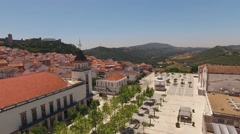 Historic centre of Palmela aerial view Portugal Stock Footage