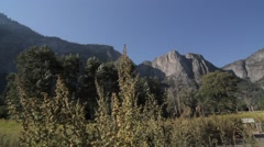 Cathedral Rocks, Yosemite Nationalpark, United States Stock Footage