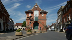The Shire Hall Town Council Building in Woodbridge Stock Footage