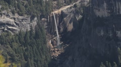 Waterfall in Yosemite Nationalpark, United States Stock Footage
