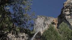 Waterfall in Yosemite Nationalpark, United States Stock Footage