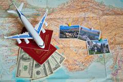 Travel concept plan and prepare for the trip to Turkey. - stock photo